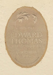 Photo of Edward Thomas stone plaque
