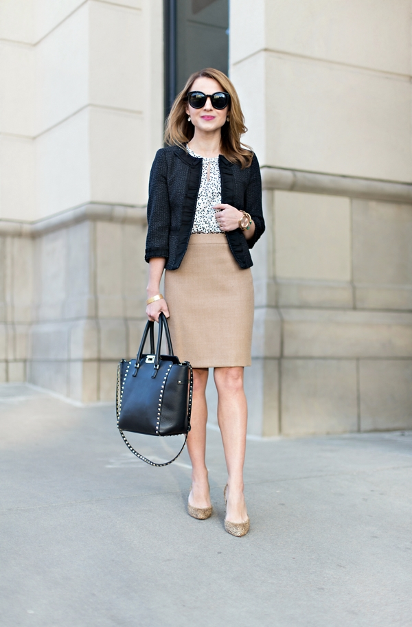 Black & tan work outfit