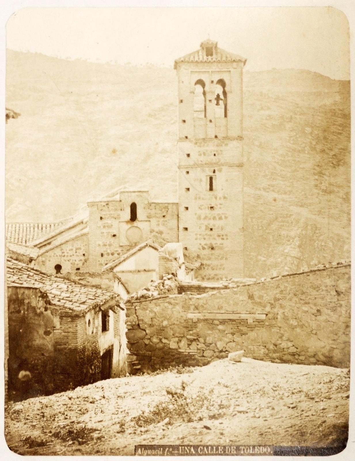 Iglesia de San Sebastián de Toledo hacia 1879. Álbum de la National Gallery con fotos de Casiano Alguacil.