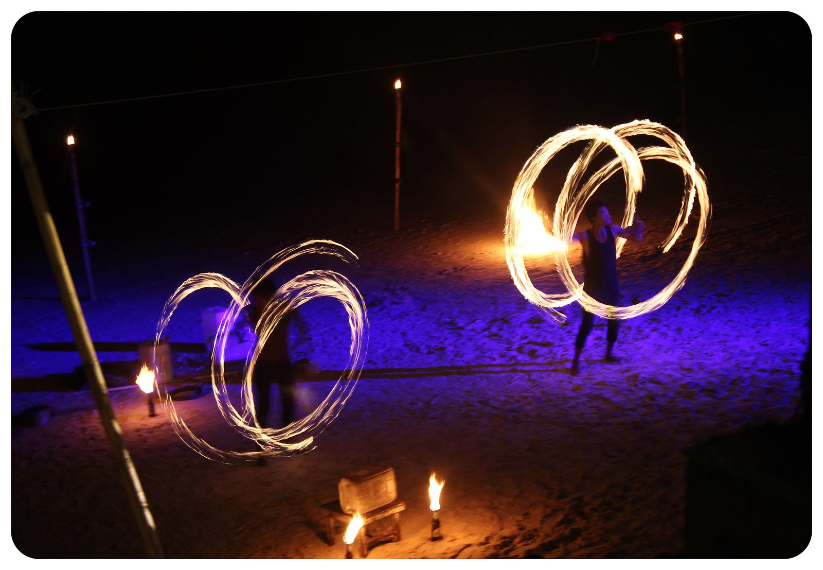 thailand fire dancers