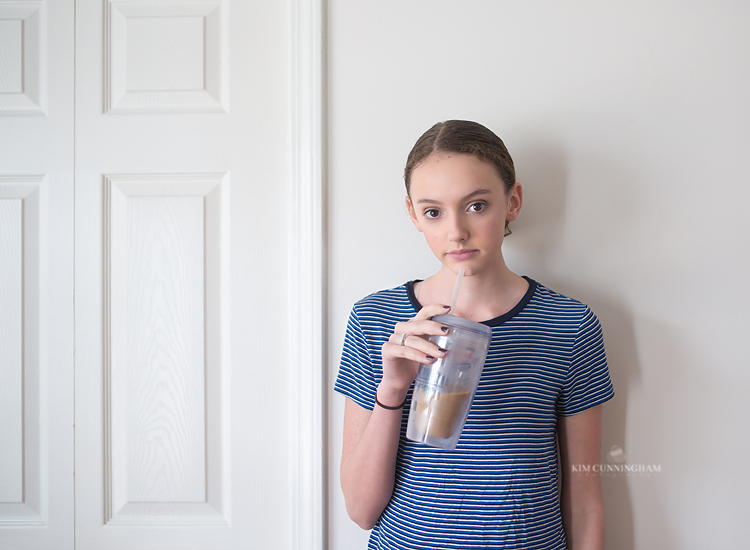 girl drinking iced coffee 01-750