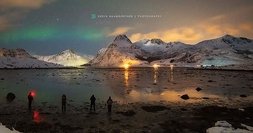 #travel #no #norwegen #northern_lights #flakstad #lofoten #workshop #deryk_baumgaertner #photographercrossing #auroraborealis #aurora