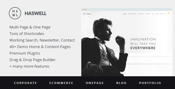Haswell v2.0.6 – Multipurpose One & Multi Page WP Theme