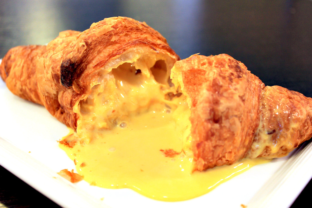 Flavour Flings Salted Egg Croissant Open Closeup