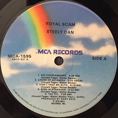 STEELY DAN:THE ROYAL SCAM(LABEL SIDE-A)