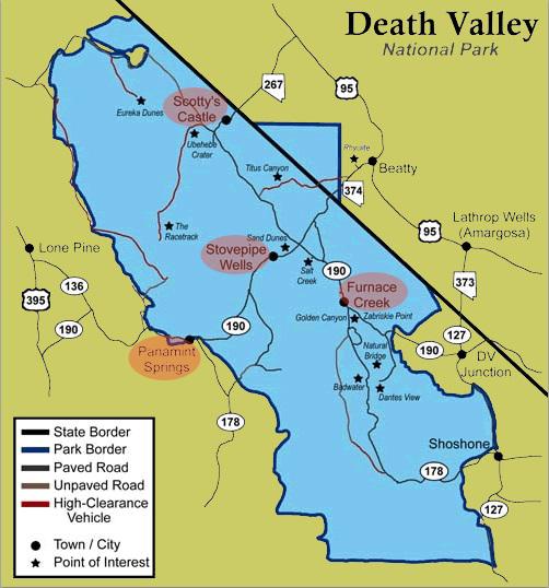death valley border