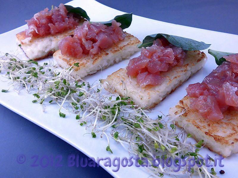 5-riso tartare di tonno e foglia d'ostrica