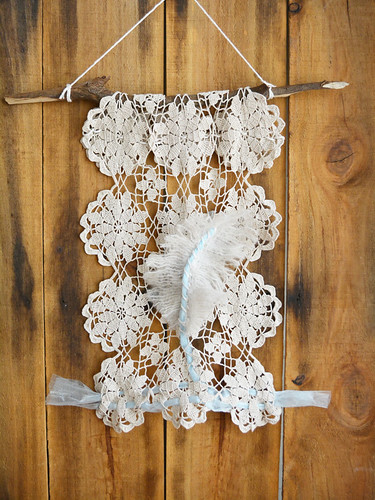 UpCycled Boho Feather Wall Hanging