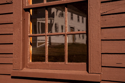 reflection window architecture farm newengland nh historic danielwebster
