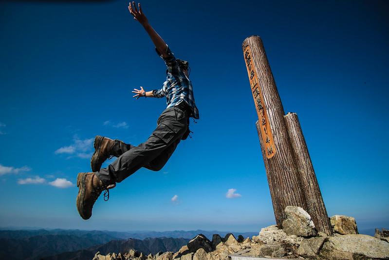 武奈ヶ岳の山頂看板