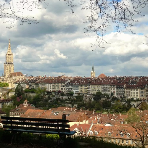 Bern view from bus 12 for Paul Klee Museum