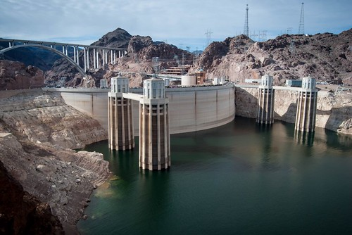 Low Water Level at the Hoover Dam