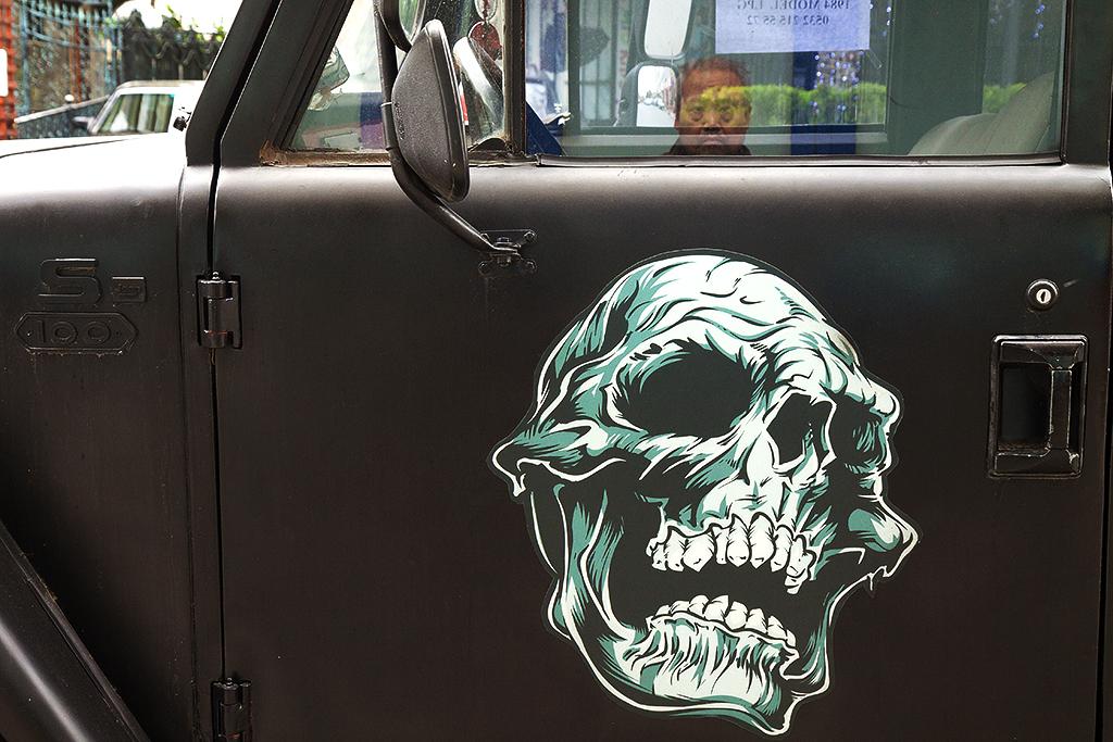 Skull on truck--Istanbul