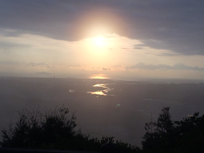 初日の出in岩国城山
