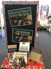 Waitangi Day display at Shirley Library