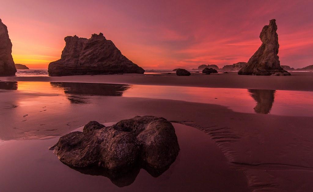 Twilight on Bandon Beach