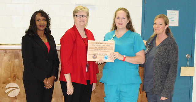 Client leadership team selects Corizon Health LPN as  'Spotlight Employee of the Month'