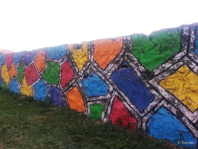 A colourful wall...