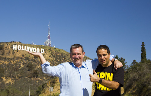 Nacho y Daniel en Hollywood Sign
