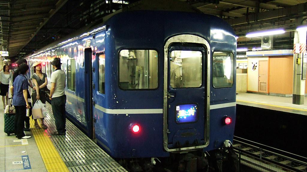 東京駅9番ホームでの銀河
