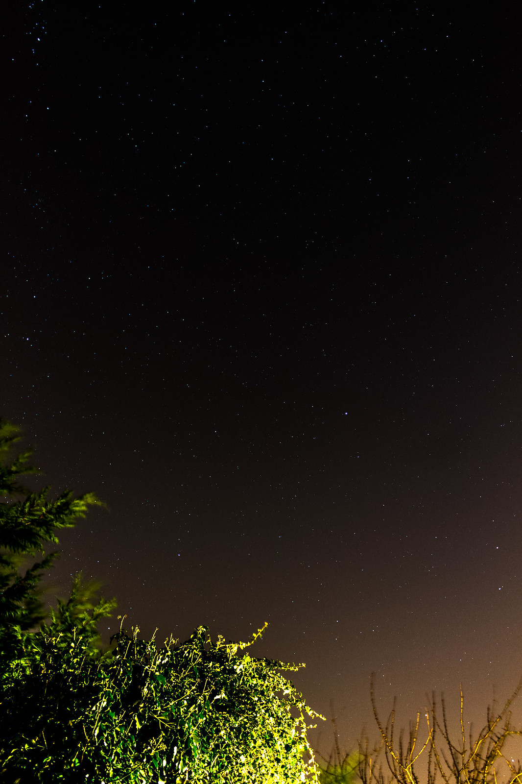 Light polluted image after Lightroom processing