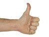 Thumbs Down - With clipping Path
