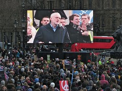 Jeremy Corbyn addresses the crowd at the Stop Trident national demo
