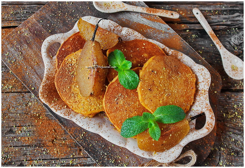 ...pumpkin pancakes spiced pear