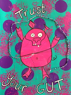 11 - Trust Your Gut - Zombie Pig - Art Journal Page - 1
