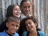 Happy kids in Gaza living suffering from the blockade and several attacks