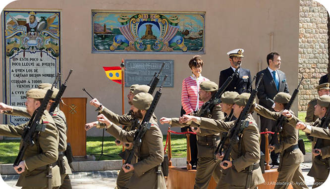 Cartagena honra al Cervantes soldado en el cuarto centenario de su muerte