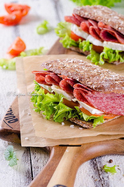 salami brie sandwiches