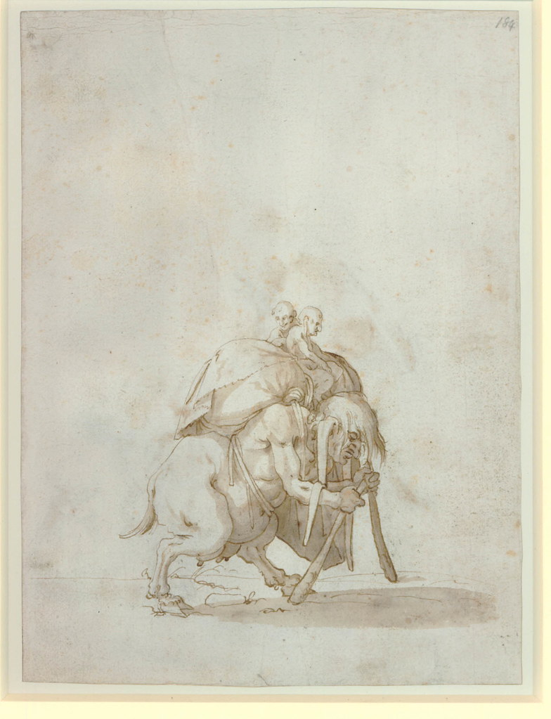 Arent van Bolten - Monster 184, from collection of 425 drawings, 1588-1633