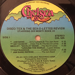 DISCO-TEX & HIS SEX-O-LETTERS:DISCO-TEX & HIS SEX-O-LETTERS(LABEL SIDE-A)