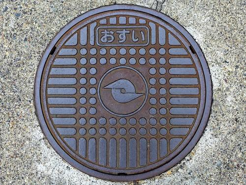Koshoku Nagano, manhole cover 2 (長野県更埴市のマンホール2)