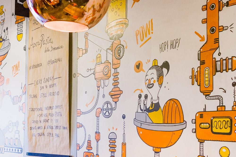 wall murals pasta remoli finsbury park italian