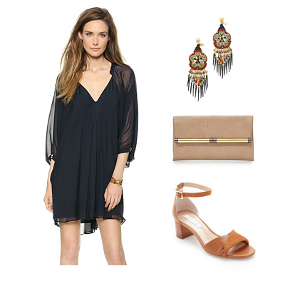 Diane Von Furstenberg dress and accessories