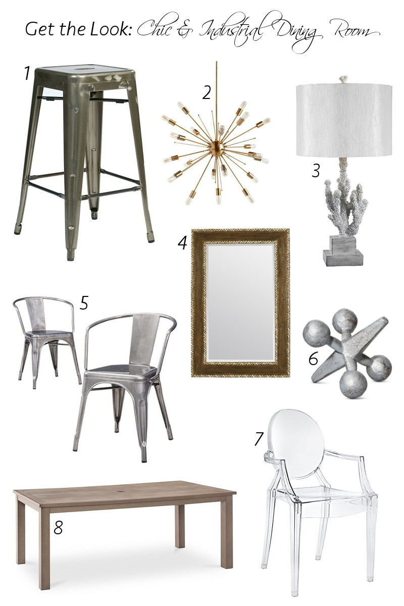chic industrial dining room, home design, decor, furniture