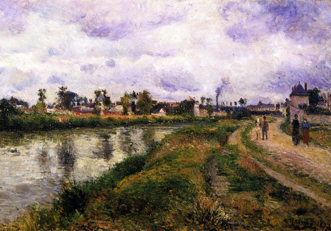 The Banks of the Oise by Camille Pissarro, 1877
