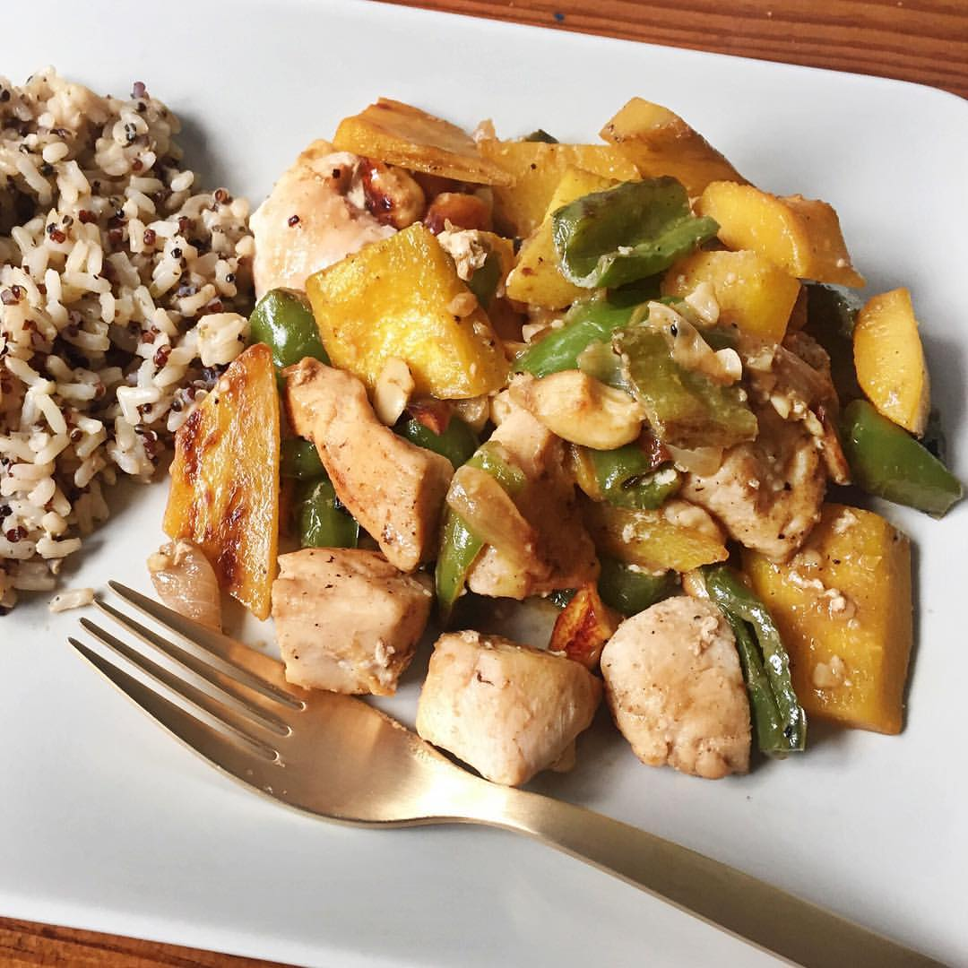 pollo con almendras Cocina sana para disfrutar