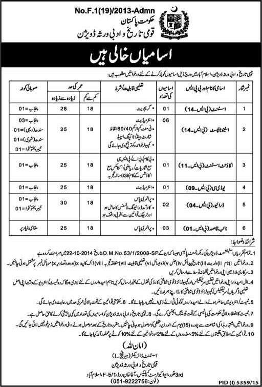 Ministry of Information Islamabad Jobs 2016