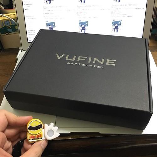 Kickstarterで投資したVufineが届いたのでした