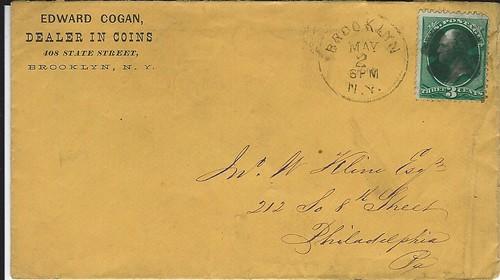 COGAN, ED stamped envelope
