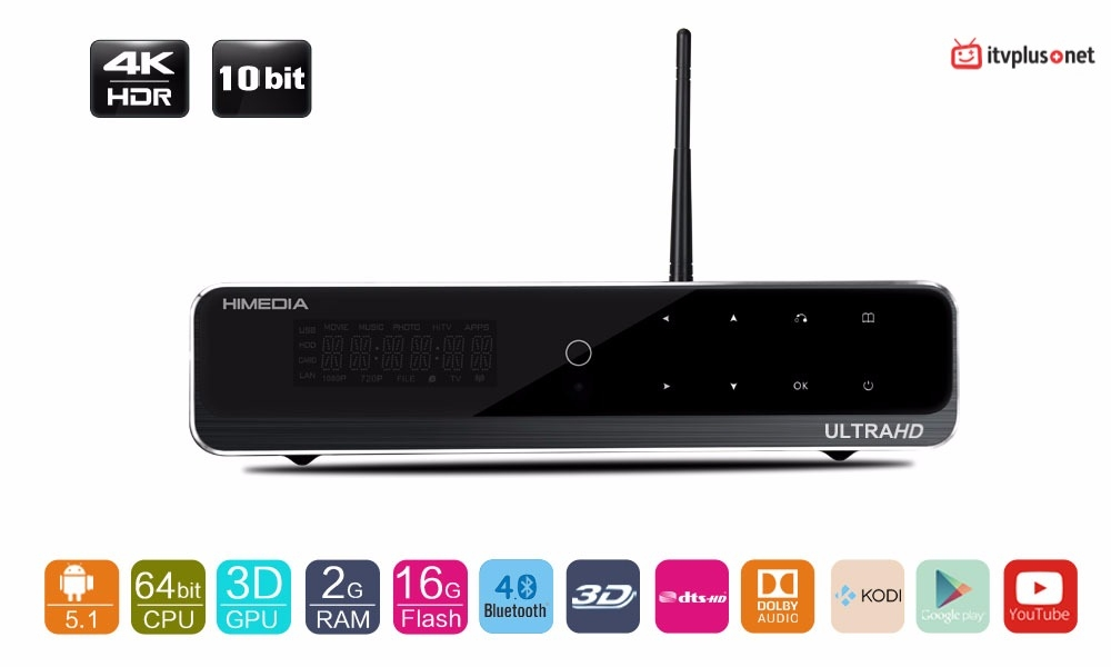Đầu HIMEDIA Q10 Pro Siêu phẩm Android Box và Karaoke HD MTV 5 Số chuyên nghiệp