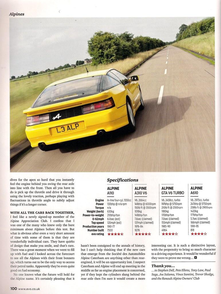 Alpine A110, GTA V6 & V6, A610 Turbo Review's - RenaultSportClub co uk