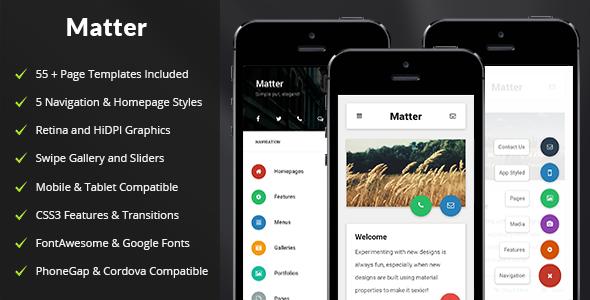 Themeforest Matter - Mobile & Tablet Responsive Template