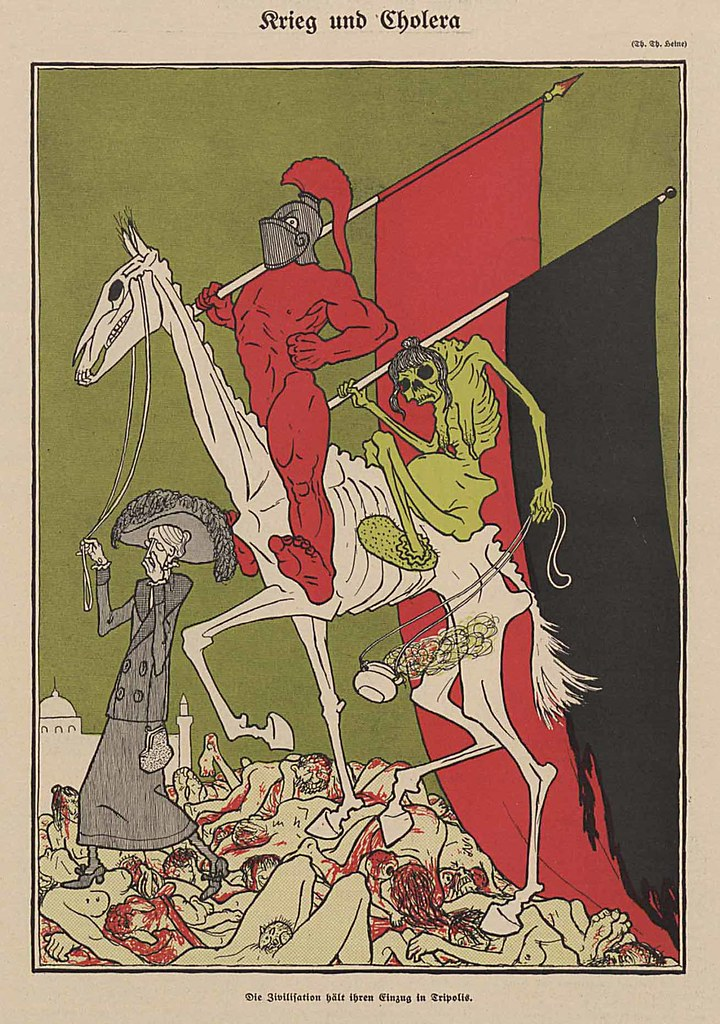 Thomas Theodor Heine - War And Cholera, 1911