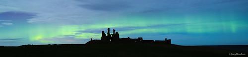 Green Ribbons - Aurora Borealis, Dunstanburgh Castle, Northumberland