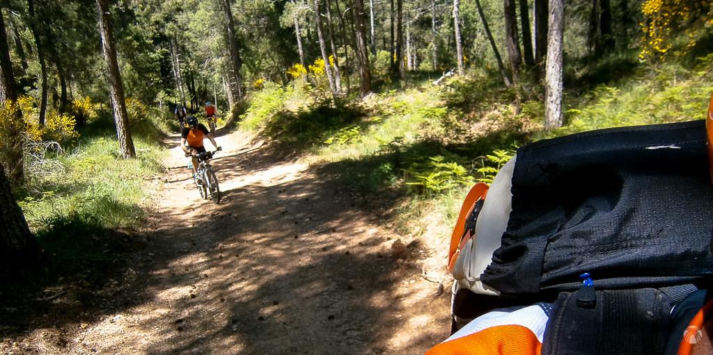 Dando pedales cerca del arroyo de la Fuente del Tejo