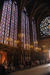 Sainte-Chapelle windows, Paris France